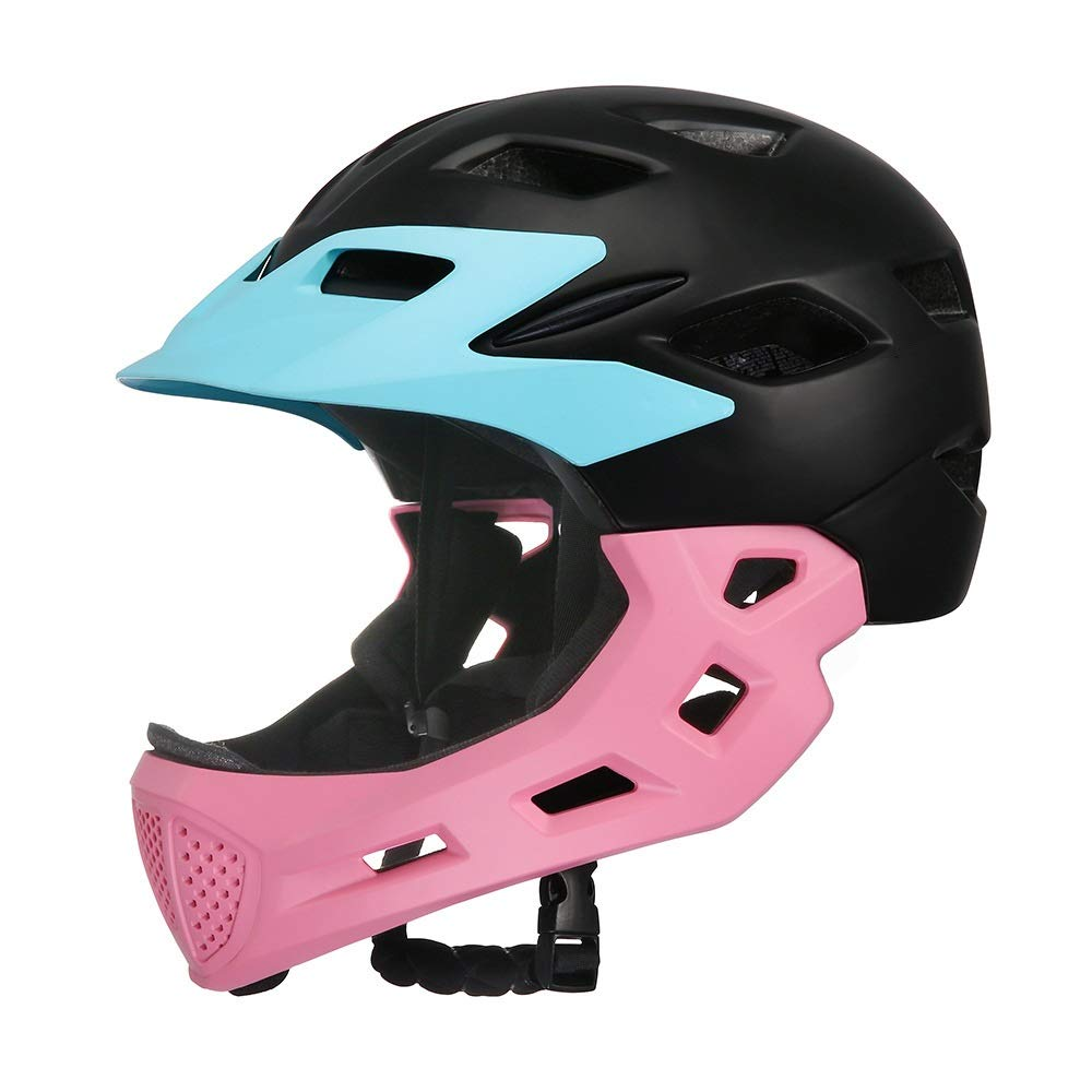 Helmet Kids Bike Helmet Adjustable Skateboard Helmet Impact Resistance Ventilation Multi-Sports Skateboard Bicycle Scooter Rollerskate Cycling Age 3-13 Years Old Boys Girls (Color : Pink)