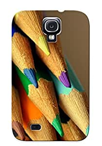 New OnDKuBm2080XyjnM Colorful Pencils Skin Case Cover Shatterproof Case For Galaxy S4