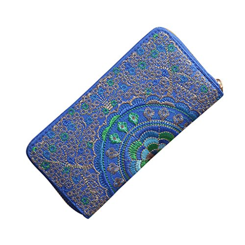 Clearance Handbag Handbag Embroidery Clutch Fashion Purses COOKI Evening Blue Wallets Womens Wallets Oxford Bag Pxqxp17