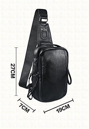 bandolera azul Hombre Bolso negro para diseño hombre coreano OYIGE 5awqgC