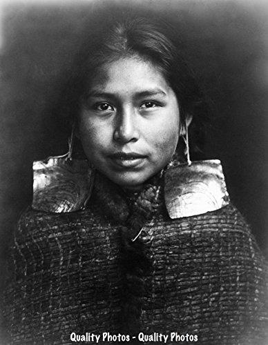 Tsawatenok Girl Native North American Indian 8.5x11