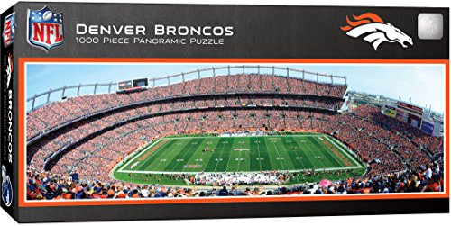 MasterPieces NFL Denver Broncos 1000 Piece Stadium Panoramic Jigsaw - Authority Sports The