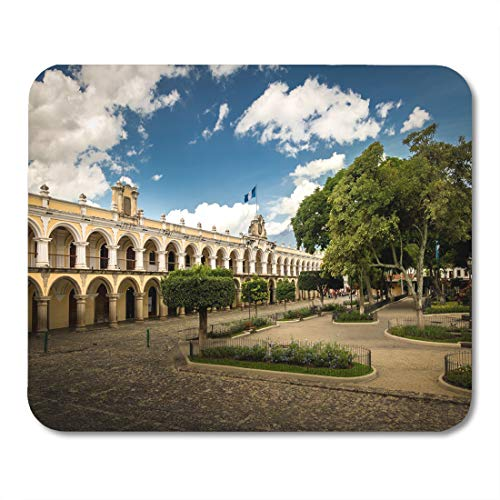 Semtomn Mouse Pad Colorful Parque Central and Colonial Buildings Antigua Guatemala Yellow Mousepad 9.8