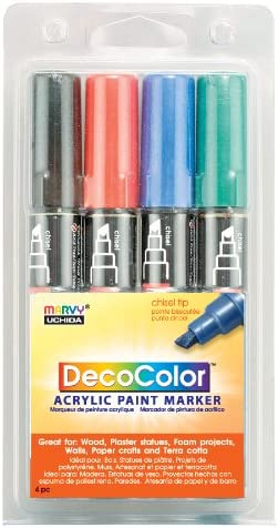 Primary Colors @ 2 PACK of  6 pc set DecoColor Opaque Paint Marker Broad Tip