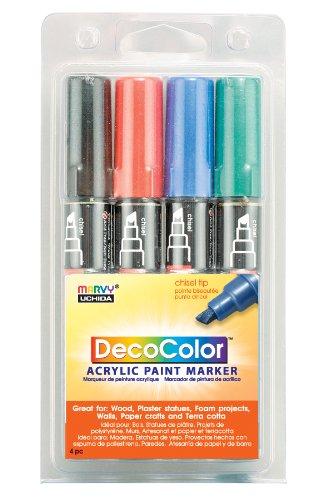 Uchida 315-4A 4-Piece Primary Decocolor Acrylic -