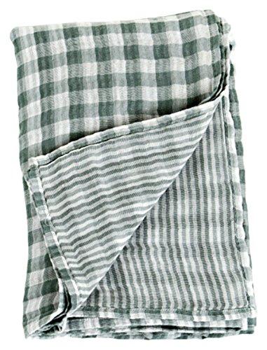 lulujo Reversible Muslin Swaddling Blanket