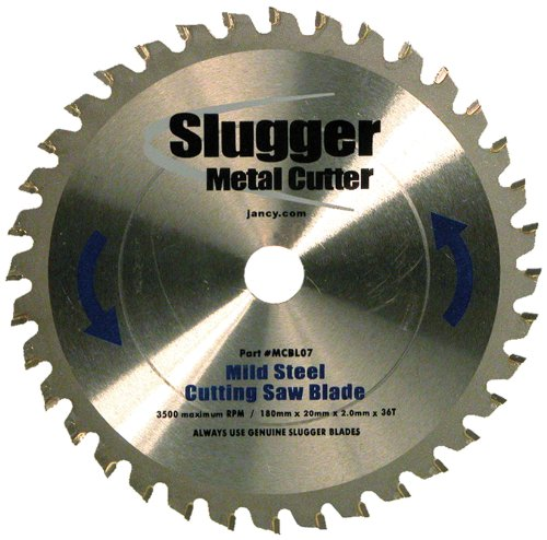 Jancy Slugger MCBL07 Mild Steel Cutting Saw Blade, 7'' Diameter, 36 Teeth by Jancy