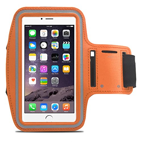Lt044 Iphone6 Plus Armband , Xboun[sport]style Sweatproof [Vogue] Apple Iphone6 Plus Armband 5.5 Inch Easy Fitting Sport Running Armband with Premium Flexible Case Combo for Iphone 6 Plus Cover (Orange)