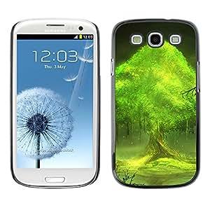 Paccase / SLIM PC / Aliminium Casa Carcasa Funda Case Cover - Trees world - Samsung Galaxy S3 I9300