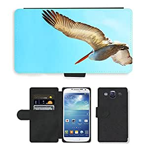 Hot Style Cell Phone Card Slot PU Leather Wallet Case // M00111060 Bird Big Pelican // Samsung Galaxy S3 S III SIII i9300