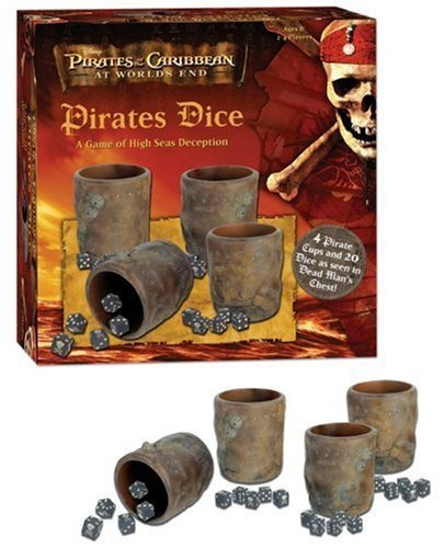 Pirates of the Caribbean Pirates Dice: A Game of High Seas Deception by USAopoly by USAopoly