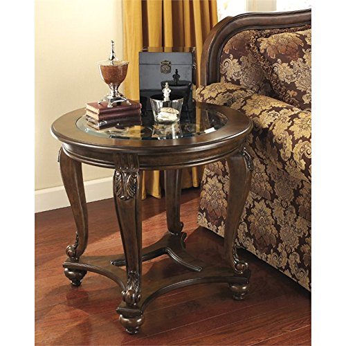 Signature Design by Ashley Norcastle Round End Table, Dark Brown