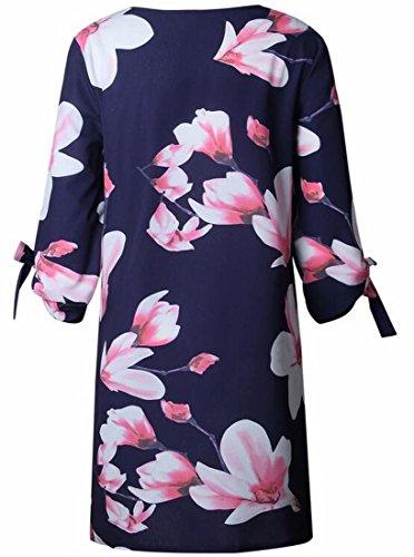 Floral Womens Fashion Casual 1 Domple Summer Dress Mini Sleeve 2 2 qgUXdxwf