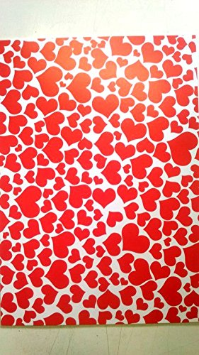 KABEER ART Hearts Design A4 Size Craft Paper Sheets With Single Side Decorative Pattern For Arts