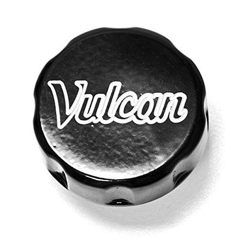 Krator® Kawasaki Vulcan Black Billet Fluid Reservoir Cap Logo Engraved - Vulcan 500 750 800 900 1500 1600 1700 2000 (1986-2011)