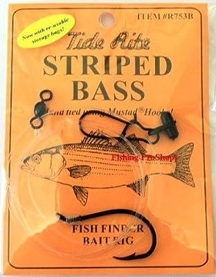 Tide Rite Pre-Rigged Striped Bass Bait Rig - w/Fish Finder by Tide Rite