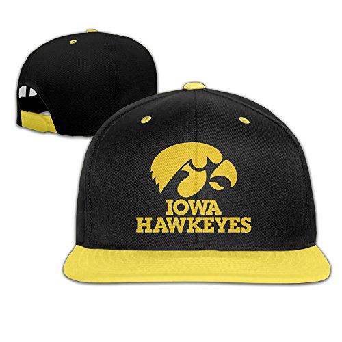 100% authentic a7b81 b5e0d Contrast Iowa Hawk Hawkeyes Snapback Flat Brim Hat Kid Yellow