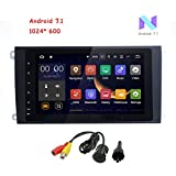 MCWAUTO for Porsche Cayenne 8 inch 2 Din Android 7.1 Quad Core Car Stereo 1024 HD Touchscreen Car Radio Receiver DVD GPS Navigation Free Mic+8GB Map Card Rear Camera