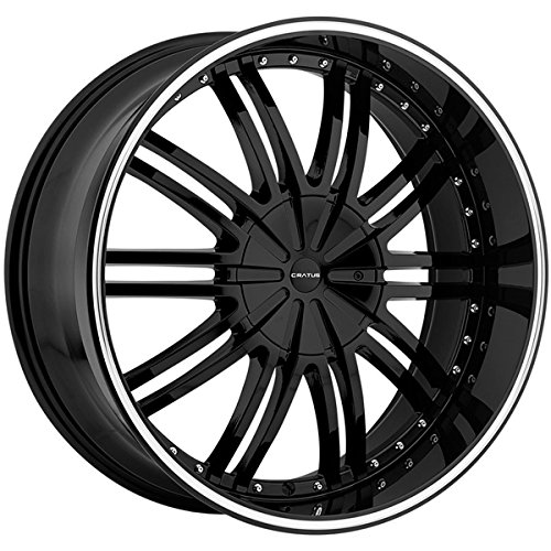 Cratus CR008 22x9.5 6x135/6x139.7 +30mm Gloss Black Wheel Rim