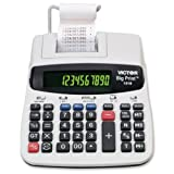 12/10-Digit Calculator, Thermal Printing, 7-3/4''x10''x2-1/2, Sold as 1 Each - VICTOR TECHNOLOGY 12/10-Digit Calculator, Thermal Printing, 7-3/4''x10''x