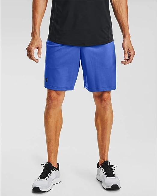 Under Armour MK1 Mens Training Shorts Blue 9 Inch Long Run Gym Workout Short UA