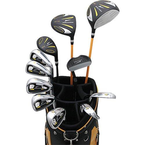WORLD EAGLE(ワールドイーグル) 5Z メンズ ゴルフ クラブ フルセット ブラック CBX007 オレンジブラック バッグVer. 右用 フレックスS WE-5Z-BK-S-CBX007 B0098VY1R0