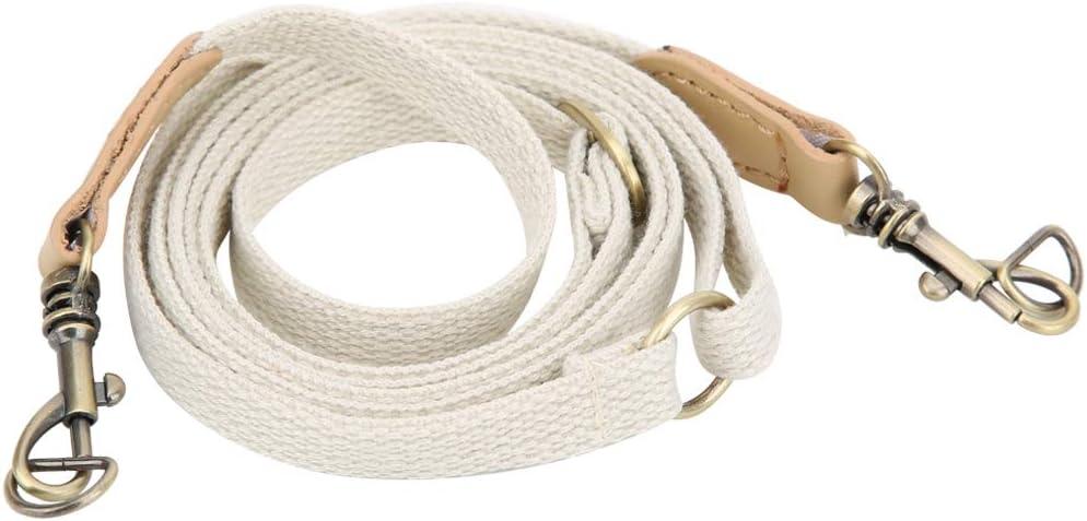 Atyhao Correa de Bolso, 29.5~48in Cinturón de Cuero Correa de Hombro Ajustable Bolso de Cuero Hecho a Mano Crossbody Belt Accesorios de Bolso de Bricolaje con Piezas de Bronce(Beige)