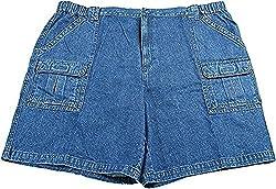 Savane Men's Eco-Start Comfort UPF 30 Hiking Shorts, Blue Denim (40)