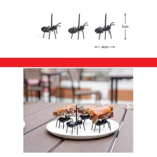 Automotive - Phones Accessories - Mini Ant Fruit Fork Eco-Plastic Kitchen Forks Food Pick Toothpick For Wedding Bar Home Party 12pcs/set - Online Shopping (Shopping Online Bar Accessories)