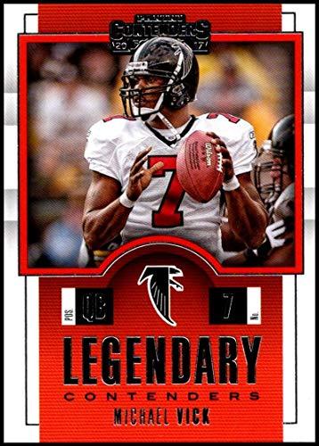 2017 NFL Contenders Legendary Contenders #4 Michael Vick Atlanta Falcons Official Panini Football Trading Card