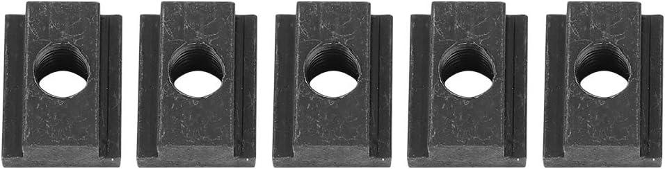 Tuerca con Ranura en T, Tuerca Con Ranura en T de Hierro de 5 piezas - Tuerca con Ranura en T ideal Para el riel de la Plataforma de la Camioneta