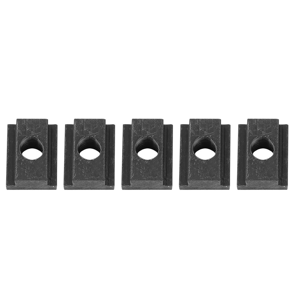 Qiilu 5-Pack Iron T-Slot Nuts,Ideal T Slot Nut for Toyota Tacoma Truck Bed Deck Rails