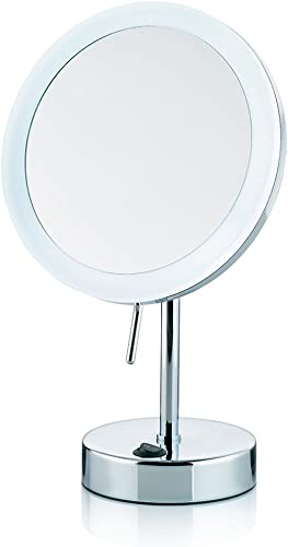 Kela Lighted Makeup Mirror with 5X Magnification Sabina Collection, Chrome