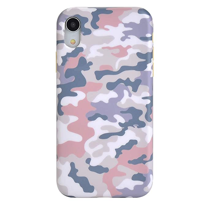 best cheap 56e93 a1afa Pink Blue Nude Camo iPhone XR Case - Premium Protective Cover - Cute Phone  Cases for Girls & Women [Drop Test Certified]