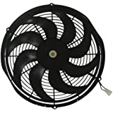 CFR Performance 16-Inch High Performance Electric Radiator Cooling Fan - Curved Blade