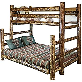 Montana Woodworks Glacier Country Collection Full Bunk Bed, Twin, Stain and Lacquer