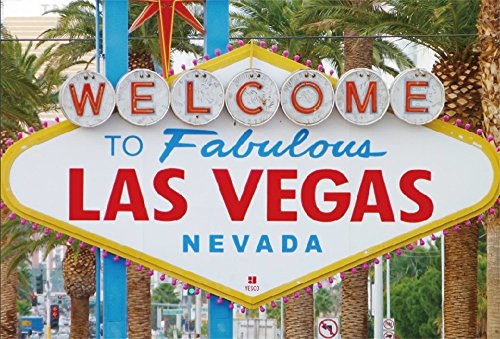 LFEEY 5x3ft Fabulous Las Vegas Backdrop World Famous America Nevada Casino Gambiling City Sign Landmark Photography Background for Portraits Vacation Travel Photo Booth Props]()