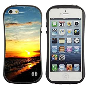 "Hypernova Slim Fit Dual Barniz Protector Caso Case Funda Para Apple iPhone SE / iPhone 5 / iPhone 5S [Sunset Beautiful Nature 111""]"