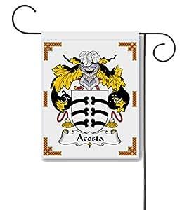 Acosta escudo de armas/Acosta familia Crest 11x 15jardín bandera–hecho en los EE. UU.
