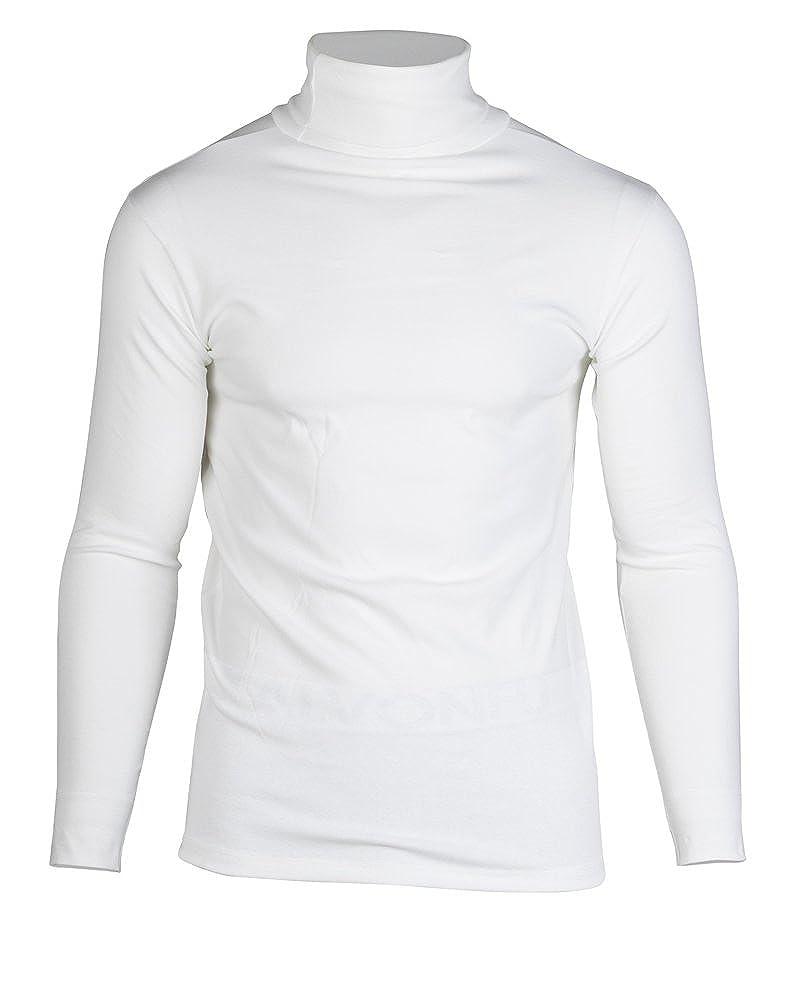 KalvonFu Men's Cotton Long Sleeve Soft Turtleneck Thermal Slim T-Shirt K-5294
