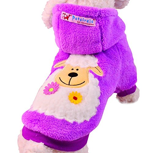 Casarkiya Pawz Road Halloween Pet Costume Dog Clothes Jumpsuits Cartoon Design ( Color : Purple , Size : M )