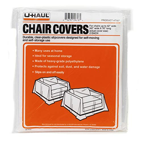 """U-Haul Moving and Storage Chair Covers - Pack of 2-76"""" for sale  Delivered anywhere in USA"""