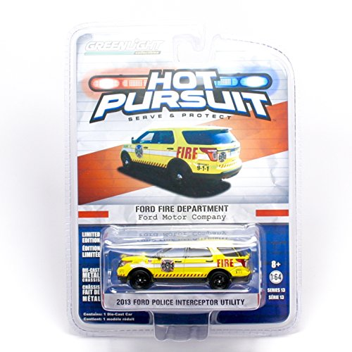 Greenlight Collectibles Hot Pursuit Series 13 - Ford Fire Department 2013 Police Interceptor Utility