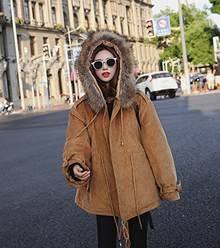 Xuanku Corduroy Jacket Women Short Jacket Coat Chloe Coat Winter Thicker Mianmao Women Mianfu Camel