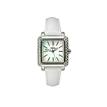 0e4f208af Amazon.com: Fossil Women's ES2449 White Leather Strap Mother-of ...