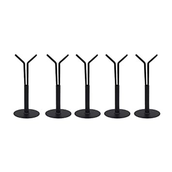 """Black Doll Stand Part For 1//6 Scale Dollhouse Display 12/"""" Dolls Action Figures"""