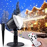 IREGRO Projector Lights Christmas Snowflake Lights Remote Control Snowfall Lamps Waterproof Decoration Spotlights for Indoor Outdoor Garden Lawn House Wedding Party Decor Festival Landscape Proje