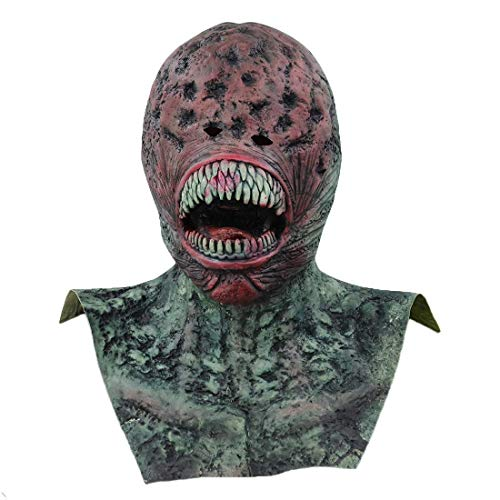 Alien Latex Masks Halloween Mask Props Realistic Predator Terror Thriller Prank Scary Demon Parasite Vampire Realista Mascara Masquerade and Role -