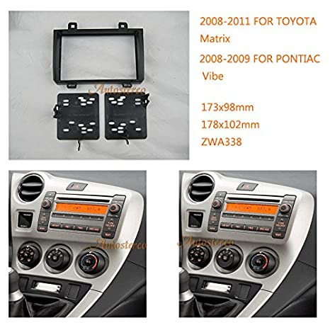 autostereo 11 - 338 - Embellecedor para radio de coche Toyota Matrix 2008 - 2011 Pontiac Vibe 2008 - 2009 Marco de Instalación de radio de coche: Amazon.es: ...
