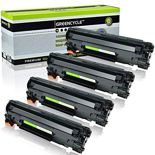 GREENCYCLE 4 PK Compatible Black Laser Toner Cartridges CE278A 78A for HP Laserjet P1606dn P1566